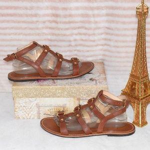 💥SOLD💥 COLE HAAN DEANDRA Brown & Gold Sandal